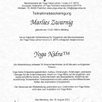 YogaNidra Zertifikat